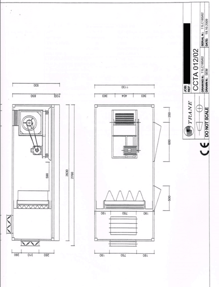 Trane - Air handling unit - Osertech on
