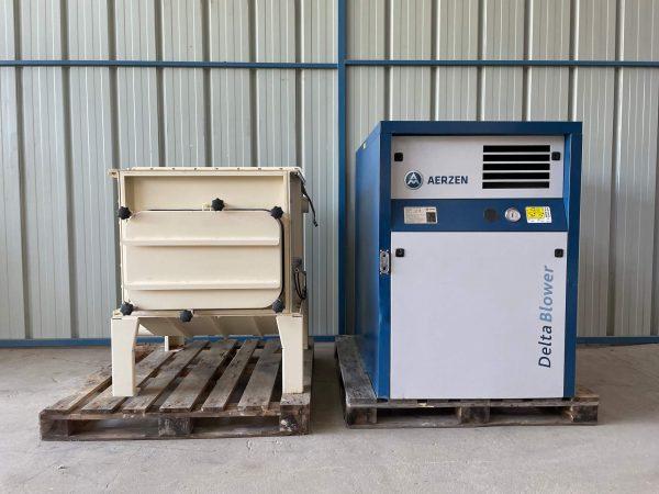 Aerzen GM7L / Infastaub MKR 0-1/20 - Surpresseur + Filtre.